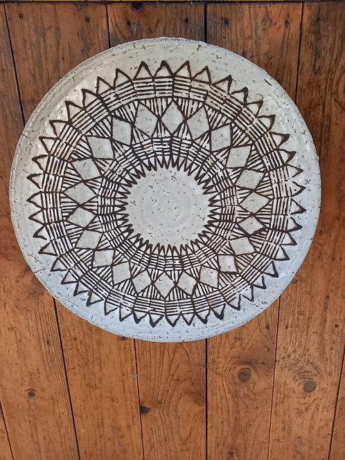 Large Platter - Tribal Etchings