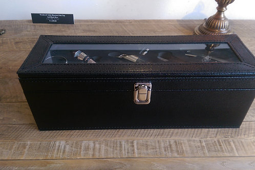 Black Wine Case And Tools