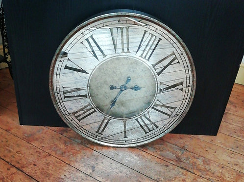 Waltham Mirrored Wall Clock - Antique Gold