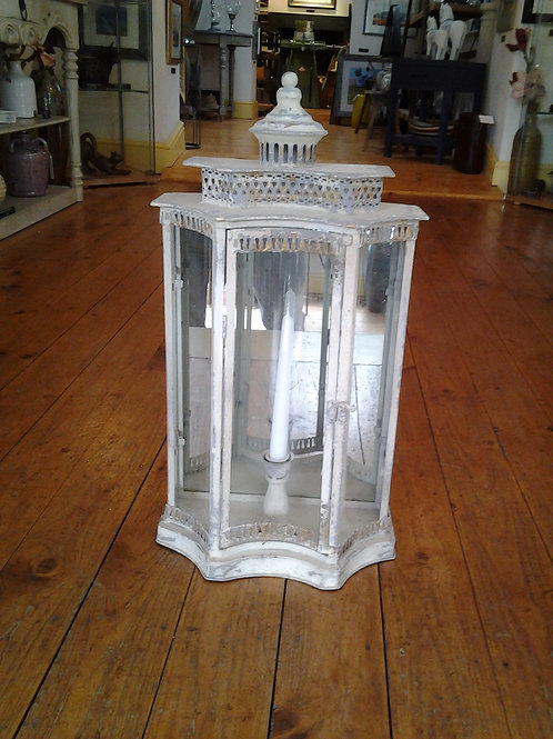 Distressed Arch Window Lantern