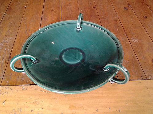 Large Handled Plate-Jade Green
