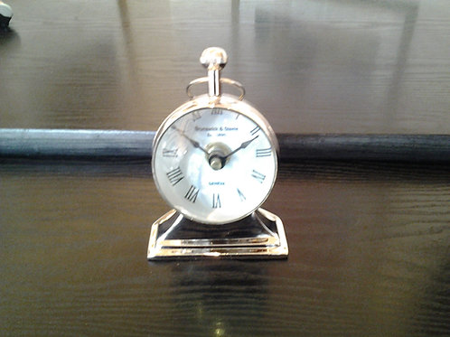 Nickel Magnifying Table Clock