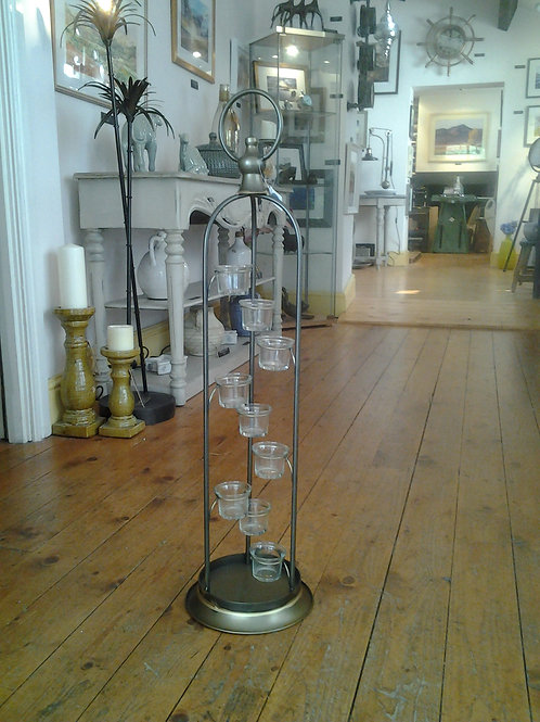 Granville Tall Metal 9 Tea Light Holder