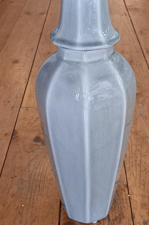 Small Grey Lidded Urn