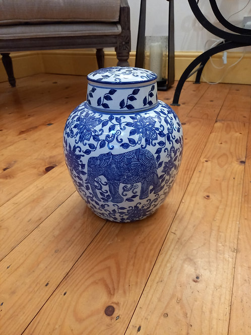 Blue/White Ceramic Jar