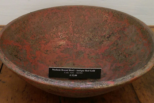 Bowl-Antique Red/Gold
