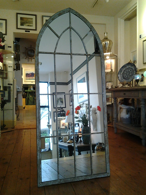 Distressed Arch Mirror
