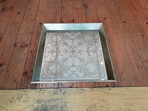 Waltham Square Tray With Decorative Pattern