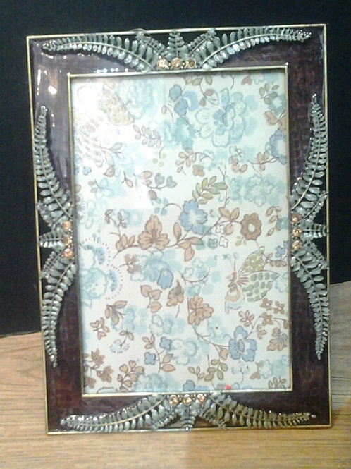 Purple Frame With Fern And Diamante Detail
