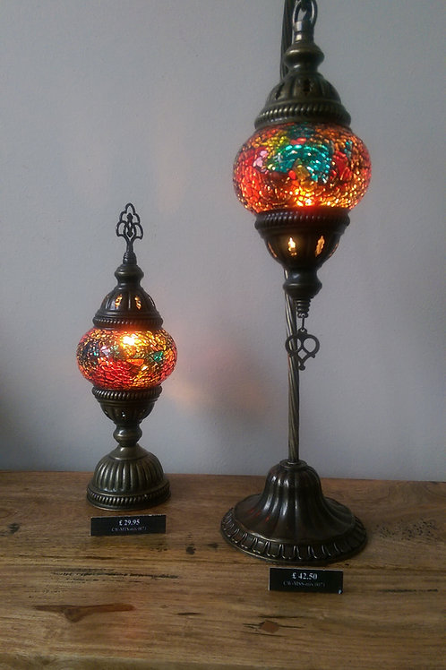Multi Coloured Turkish Lamp