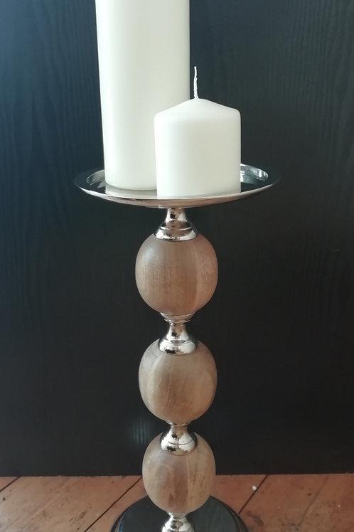 Large Wood Candle Pillar