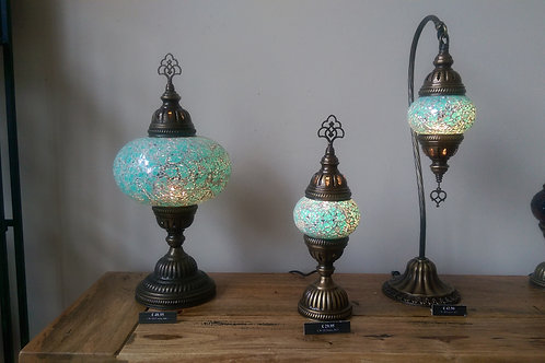 Turquoise Turkish Lamp