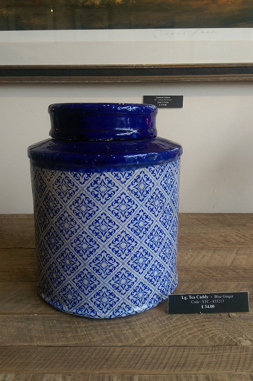 Moroccan Tea Caddy-Blue Ginger