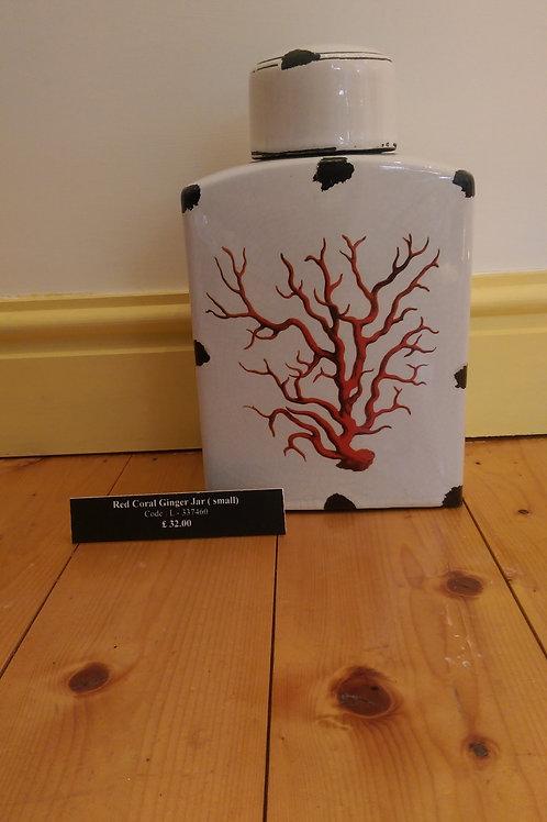 Red Coral Ginger Jar