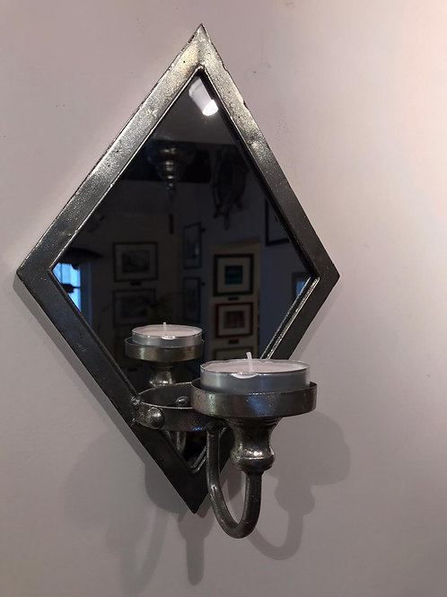 Antique Silver Wall Sconce Candle Holder