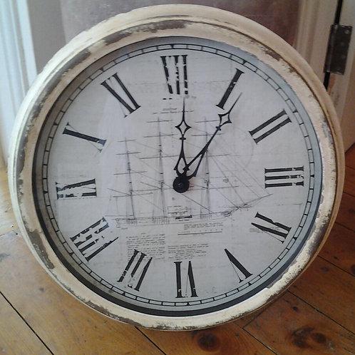 Large Schooner Clock