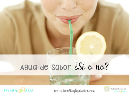 Agua de sabor. Tu cerebro piensa que es comida.