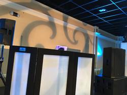 Quincenera monogram wall wash
