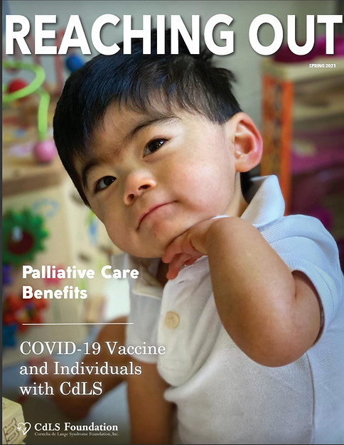 Reaching Out-Publication by the CdLS Foundation featuring Vincent Hackenberg