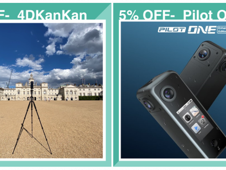 Lockdown-proof Package: 5% OFF of 360 cameras & service for virtual tour & ecommerce