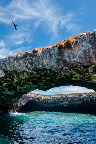 The hidden beach of Islas Marietas