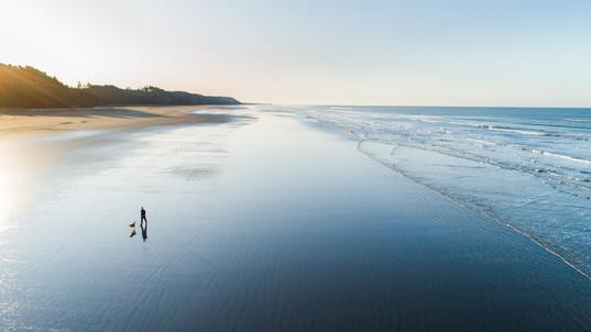 Sunrise on the beaches of Seabrook, Washington