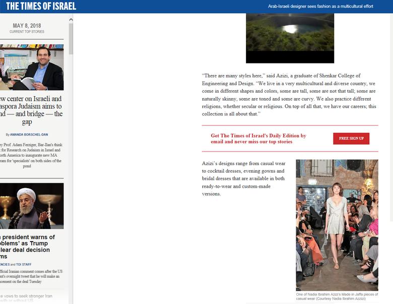 Times of israel Magazine