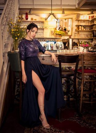 AZIZI s/s2017 BLACK capsule  Designer: Nadia Ibrahim Azizi שמלות ערב