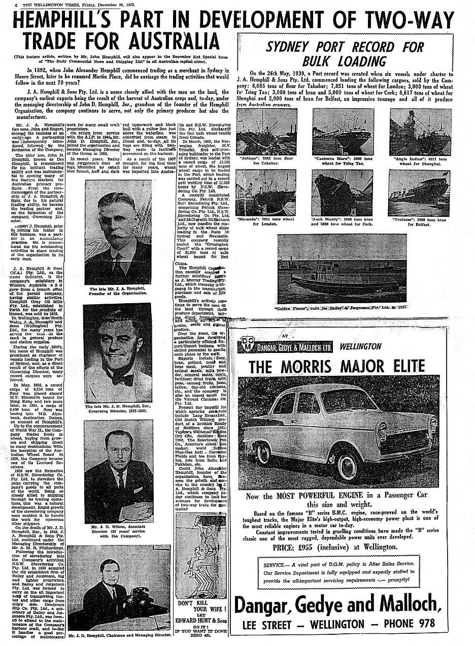 Hemphillproperty.com history article the wellington times