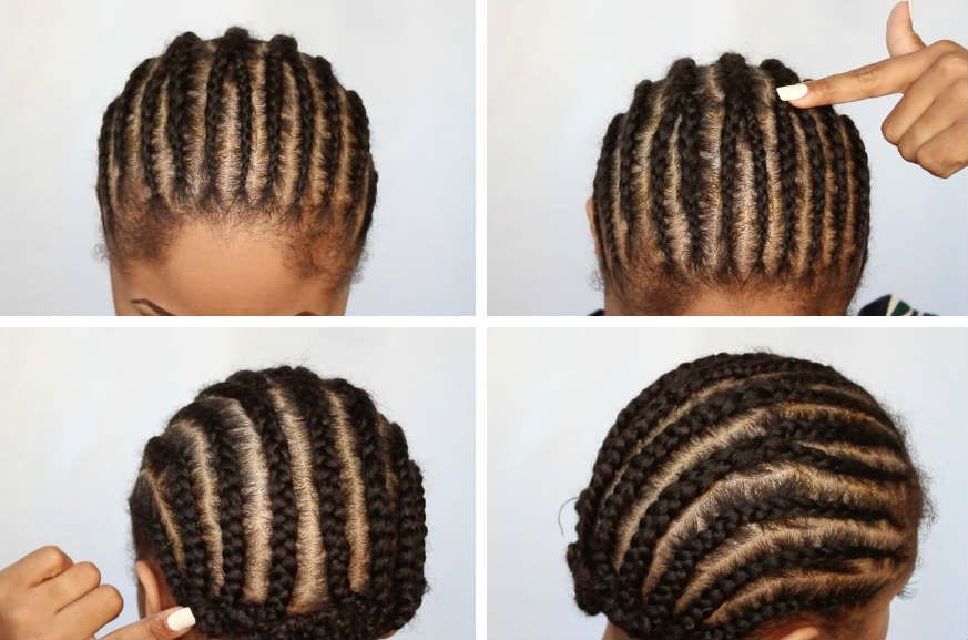 Low Tension Cornrows for Crochet Braids