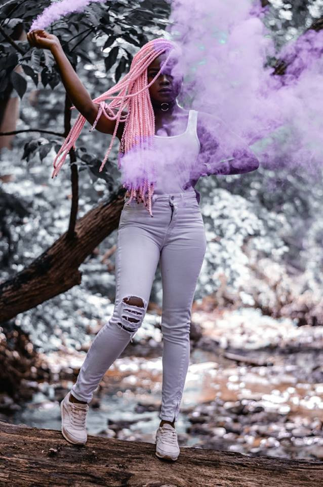 Hair in Art Pink Yarn Twist