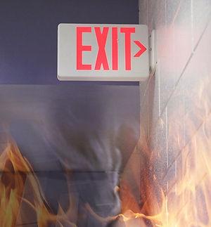 Emergency lights & signs help people evacuate a building
