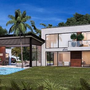 Projet de villa de luxe avec piscine, Arménia, Quindio, Colombie - Qd07