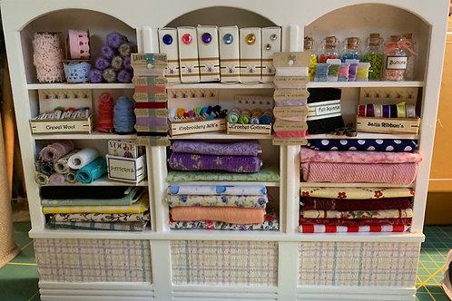 1/12th White Triple Sewing Shelf