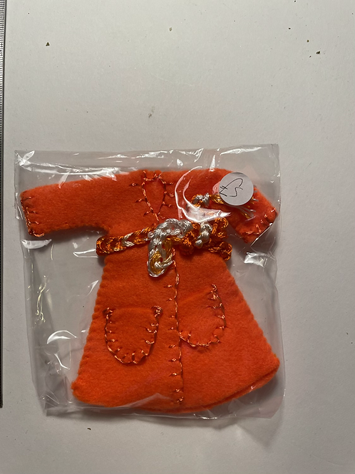 orange coloured Childs dressing gown