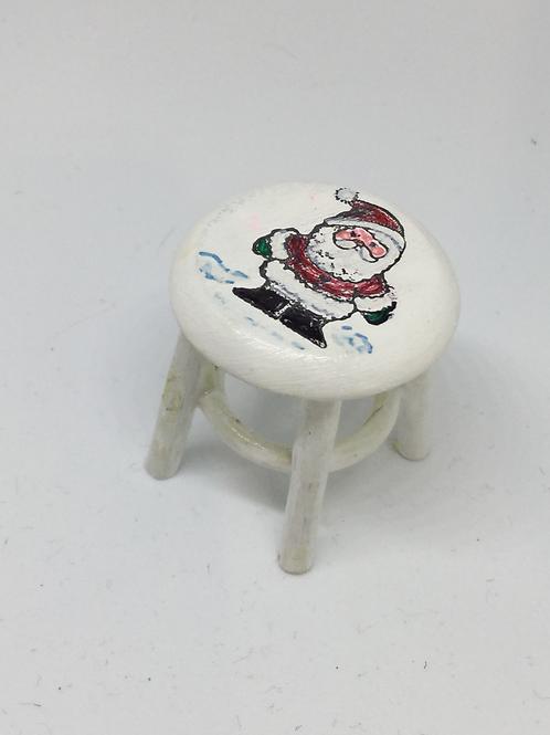 White Santa Stool