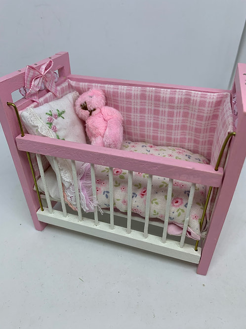 1/12th Pink Cot