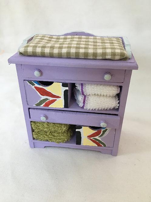 Girls Nursery Changing Unit / Cupboard - Butterfly