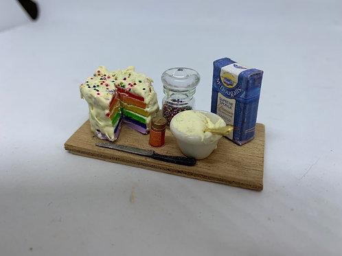 Rainbow Cake Making Board