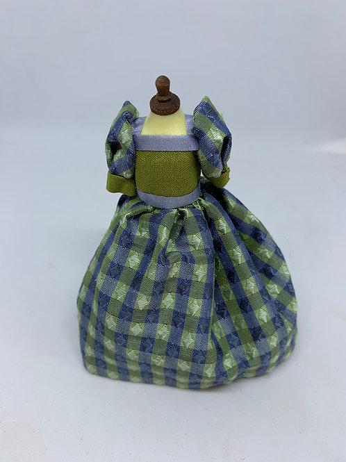 Blue Children's Dress on Mannequin