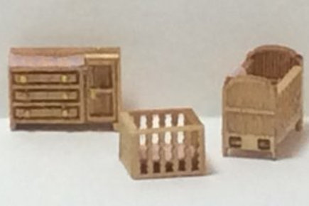 1/144th Scale Furniture Kit - Country Nursery Room