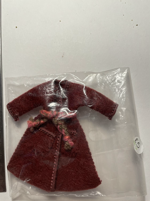 Burgundy coloured Childs dressing gown