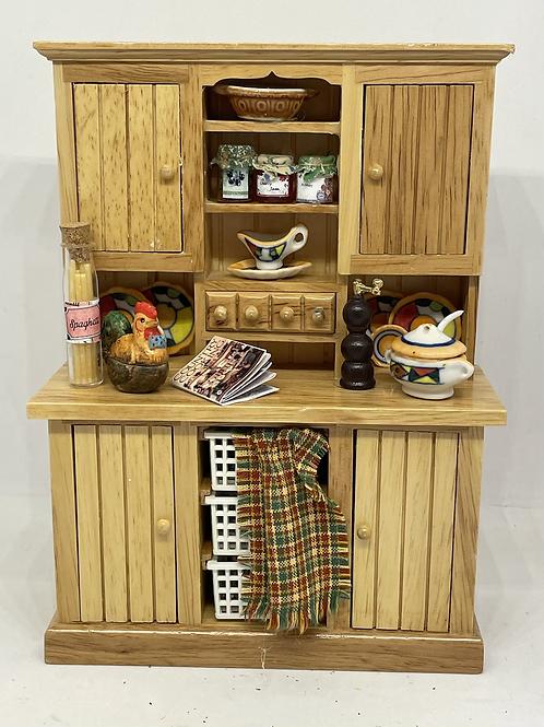1/12th kitchen dresser pine