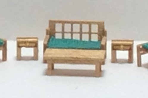 1/144th Scale Furniture Kit - Modern Living Room