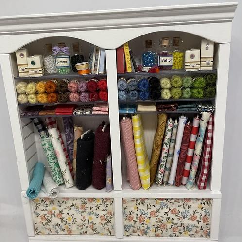 1/12th Haberdashery Sewing Shelf