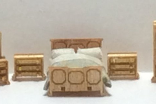 1/144th Scale Furniture Kit -  Traditional Bedroom