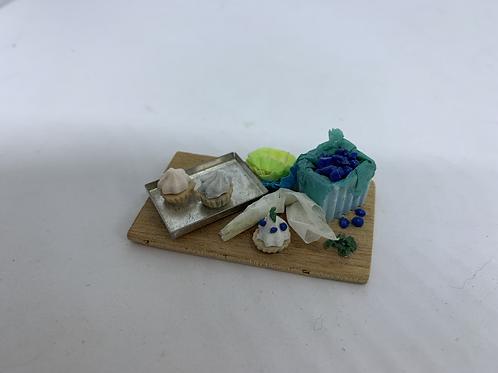 Blueberry Cupcake Making Board