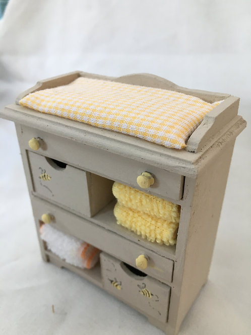 Baby Nursery Changing Unit / Cupboard - Bees