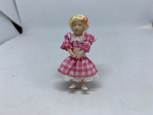 Girl in Pink Dress Doll