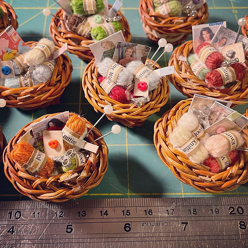 1/12th basket of knitting x1